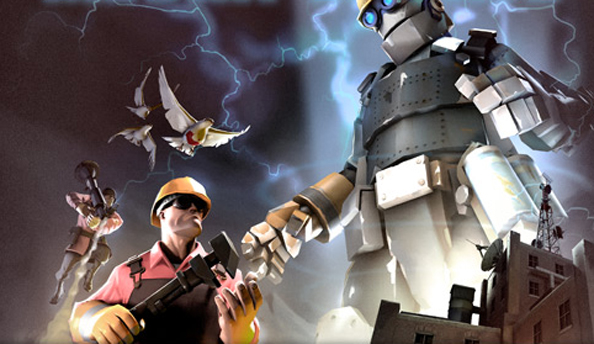 Team Fortress 2 Christmas Mann vs Machine event introduces Mecha-Engineer and new map