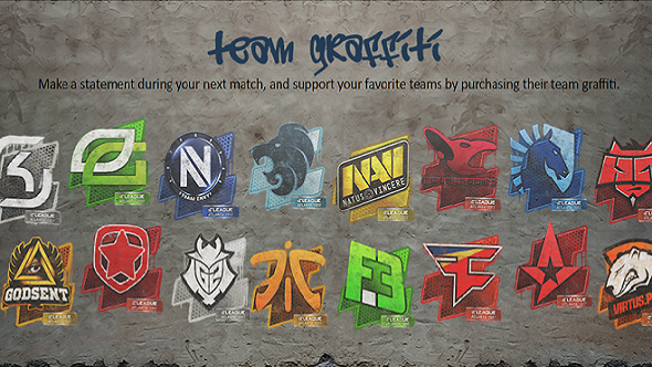 CS:GO team graffiti and autographed team stickers come to