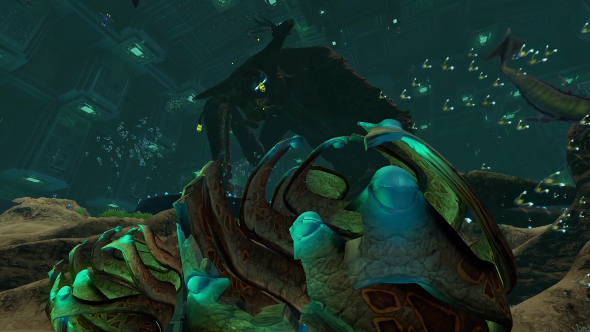 Subnautica's endgame is a massive tentacle monster
