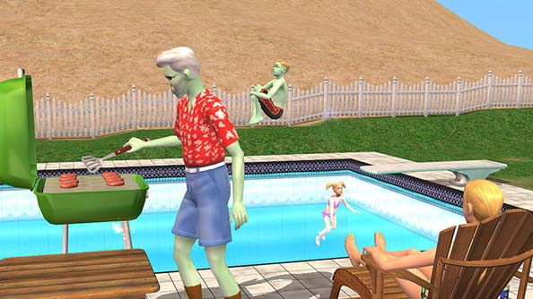 The Sims 2: when even the zombies had fun.
