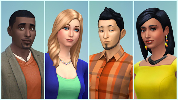 Fine-tune the hair on your chinny-chin-chin in The Sims 4 Create-a-Sim demo