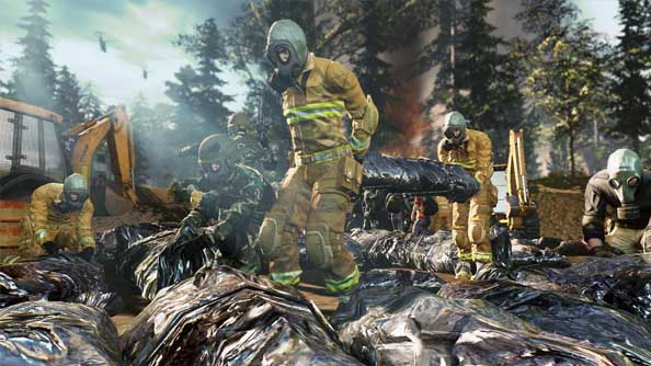 The War Z footage displays solitude, a fireman's hat, buildable barricades, and bugs. Seems an awful lot like DayZ