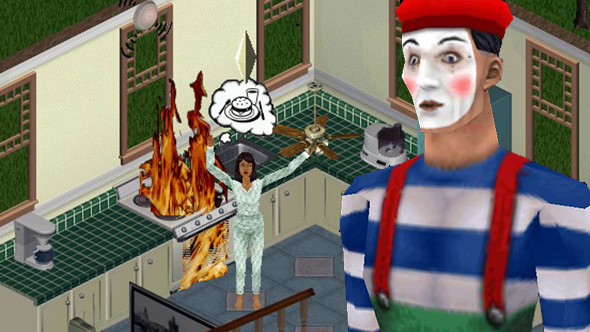 the sims maxis mimes bill irwin david shiner