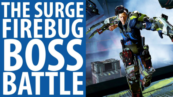 The surge firebug boss battle