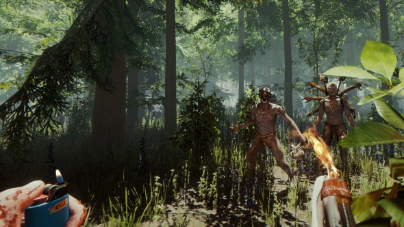 The eerie cannibal mutants of The Forest grow restless as the game updates to version 0.70