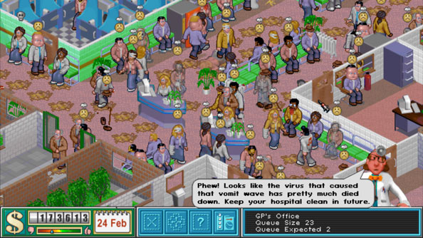 Old games Theme Hospital