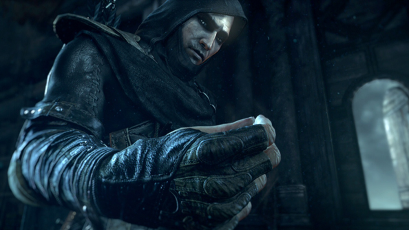 Thief trailer is clock towers and tumbler locks and tumbling scenery