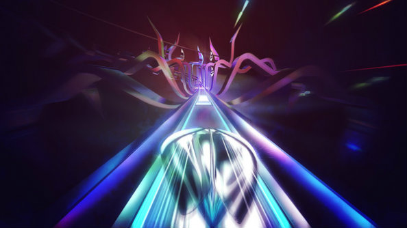 Thumper is a cool-looking, rhythm-based racer where you control a metallic space beetle