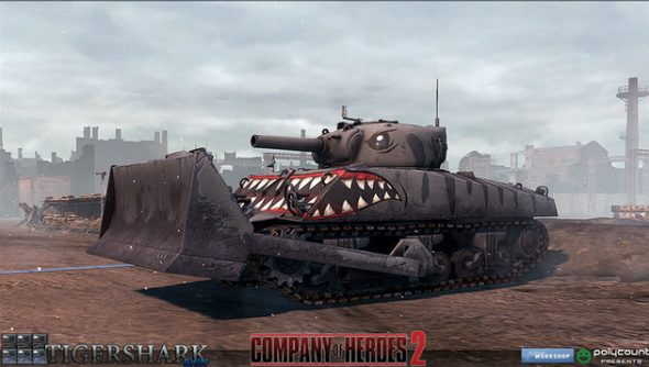 Company of Heroes 2 Tigershark tank