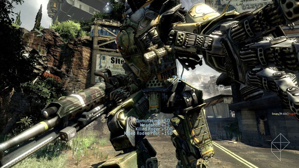 Titanfall PC beta stomping/free-running this way depending on your preferred playstyle