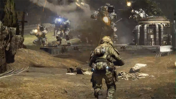 Please don't mech a scene, but Titanfall's maximum headcount is 6v6