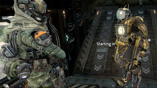 The only smile you ever see in Titanfall.