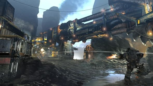 Dig Site: a view from the frontier in Titanfall.