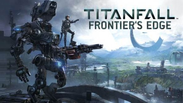 Titanfall, looking a bit like that Transformers poster with the dinosaur.