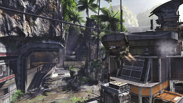 Ziplines did not feature in the Titanfall beta last month. Wish they had.