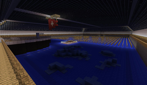The Titanic, as remembered in Minecraft