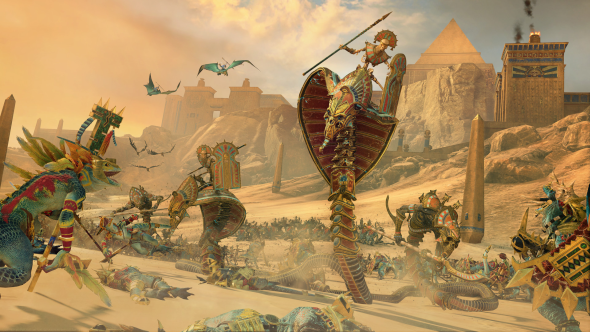 A Necropolis Knight, the Tomb Kings' fourth-tier monstrous cavalry