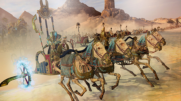 Settra the Imperishable on his chariot