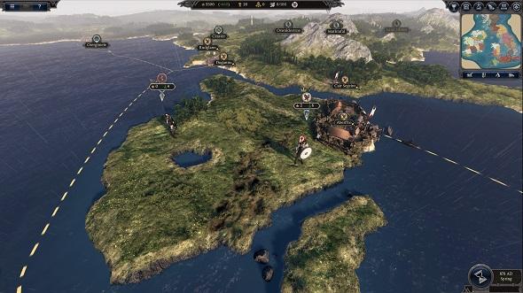The Thrones of Britannia campaign map