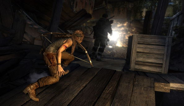 Tomb Raider Guide to Survival video shows that a key to island living is ice picking people in the head