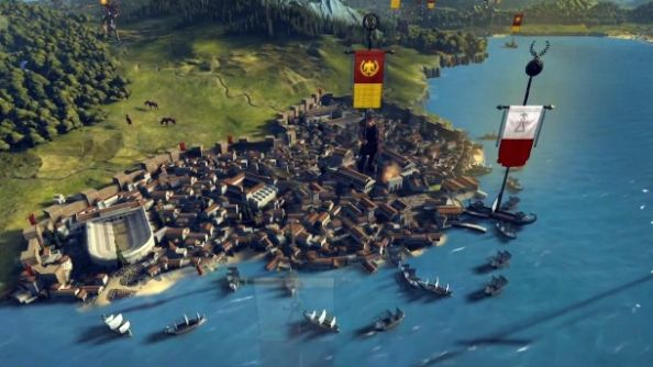 "Creative Assembly give us a ""Greek-peek"" into city growth on Total War: Rome 2's campaign map"