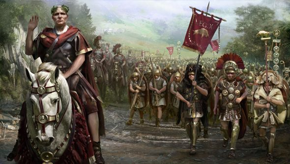 Total War: Rome II's Caesar in Gaul DLC campaign is out now.