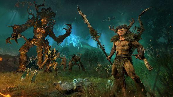 Durthu and Orion lead the forest spirits and the Wood Elves