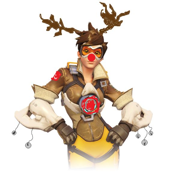 Tracer Christmas skin