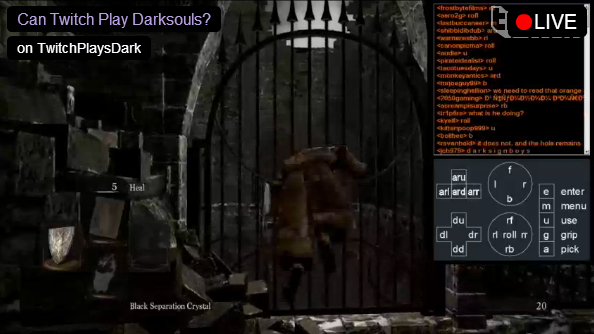 Twitch is playing Dark Souls, and they've (sort of) managed to beat the first boss