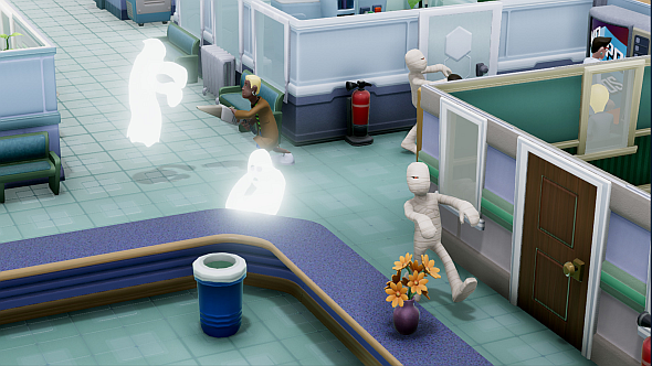 A cute little detail: janitors use dustbusters to bust ghosts