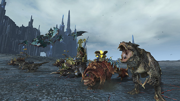 CA's audio team excel with the Lizardmen, who are a joyous cacophony of guttural roars