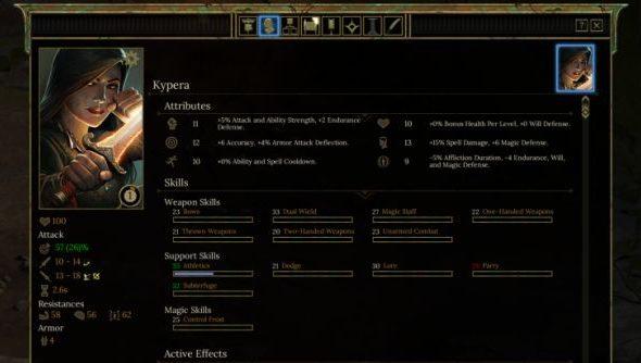 Tyranny character sheet