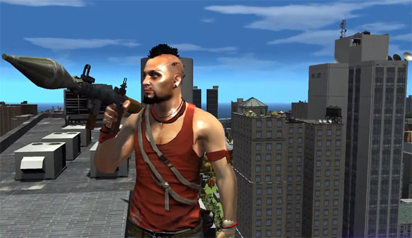 See Far Cry 3's Vaas ride through Liberty City on a snowcross