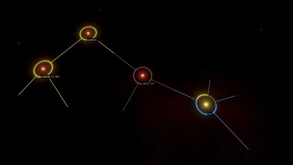Void Eclipse: Empires at War galaxy map