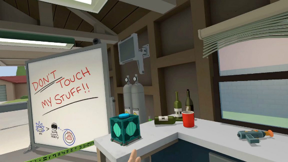 Touch stuff in Rick and Morty's garage with Adult Swim VR game