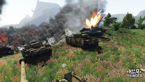 War Thunder: ground up.