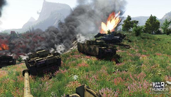 War Thunder: ground up.