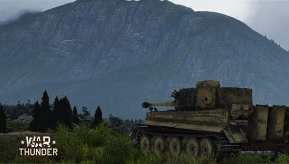 A tank in War Thunder: Ground Forces considers the mountains, and prays to one day match their strength and fortitude.
