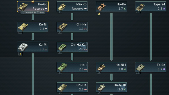 War thunder early tier japanese tanks