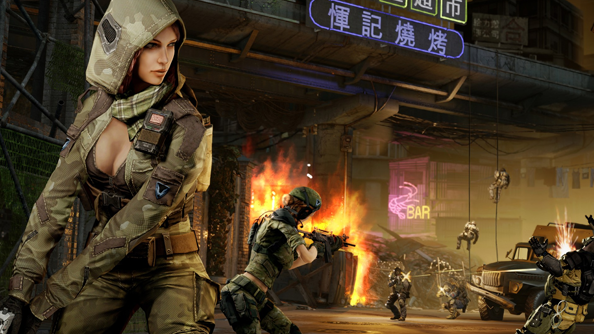 Warface has female models but they're wearing far from adequate battlefield attire