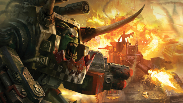 "Warhammer 40,000: Armageddon is a hex-based waaaghgame that ""anyone can play"""