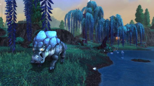 A riverbeast of Draenor, doing its best impersonation of a neutral NPC.