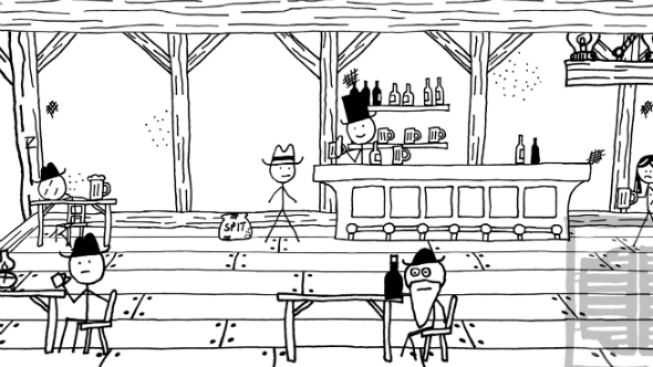 West of Loathing saloon