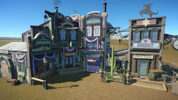 Western shops planet coaster