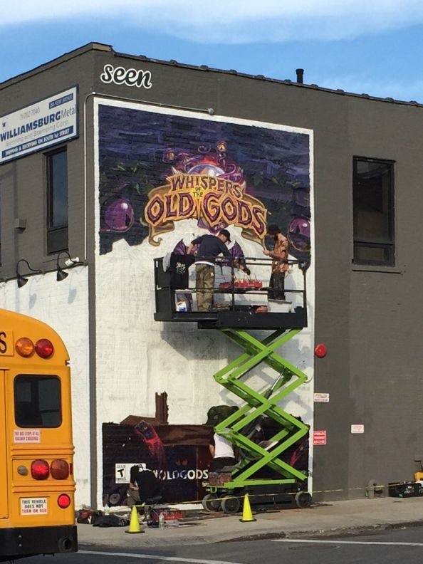Whispers of the Old Gods mural