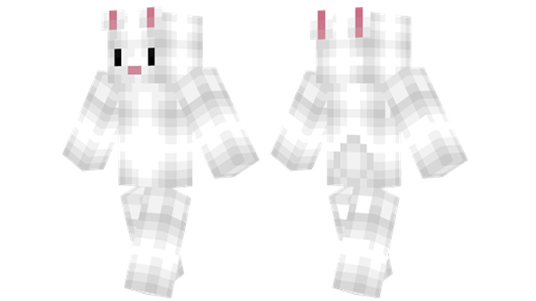 best minecraft skins white bunny
