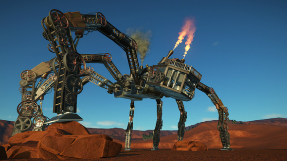steampunk spider planet coaster