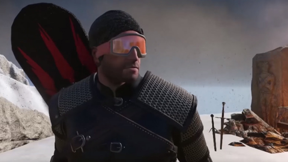 the witcher 3 snowboarding