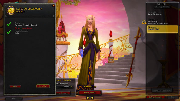 Penthouse purchase: World of Warcraft level 90 character boosts now on Public Test Realm