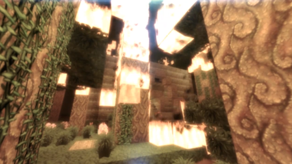 World of WarCraft texture pack for Minecraft updated to add Mists of Pandaria theme